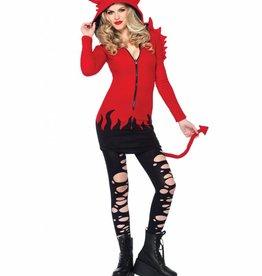 Women's Costume Cozy Devil Large