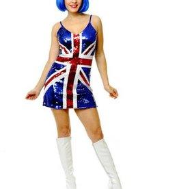 Women's Costume British Sequin Dress