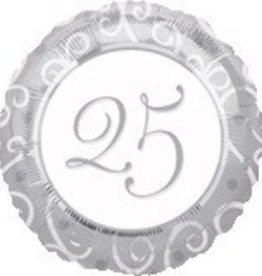 "25th Anniversary 18"" Mylar Balloon"