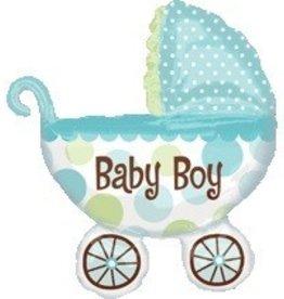 Baby Buggy Boy Supershape Balloon