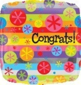 "Congrats Bubble Burst 18"" Mylar Balloon"