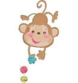 "Fisher Price Baby Monkey 40"" Mylar Balloon"