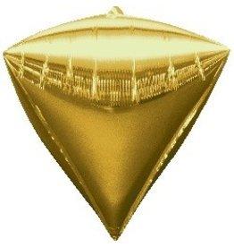 Gold Diamond Mylar Balloon