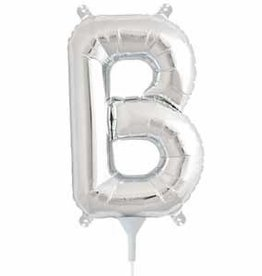 "Air Fill Silver Letter B 16"" Balloon"