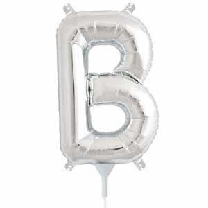 """Air Fill Silver Letter B 16"""" Balloon"""