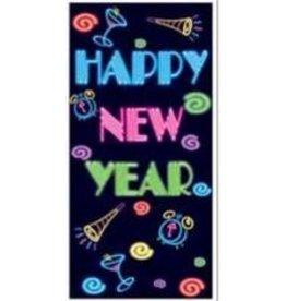 Happy New Year Decoration Door Cover