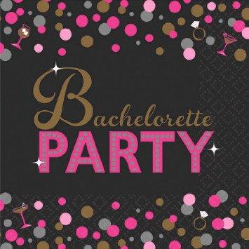 Bachelorette Night Beverage Napkins