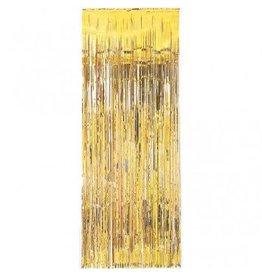 Gold Metallic Fringed Table Skirt