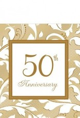 50th Anniversary Lunch Napkins 16ct