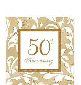 50th Anniversary Lunch Napkins (16)