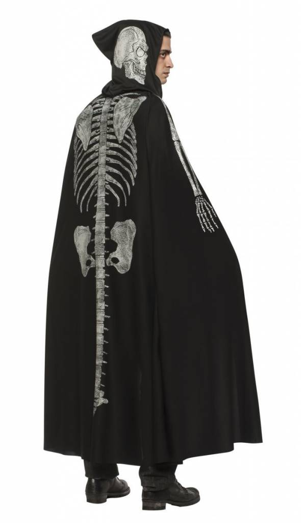 Adult Black Skeleton Cape