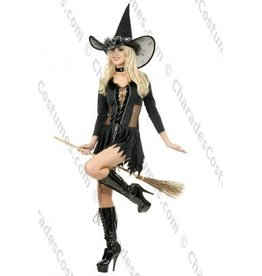 Black & Silver Witch Hat