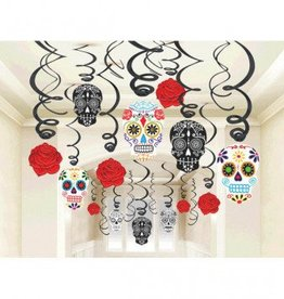 Black & Bone Value Pack Foil Swirl Decorations