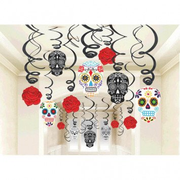 Black & Bone Value Pack Foil Swirl Decorations