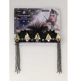 Black & Gold Flapper Headband