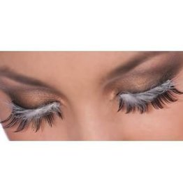 Eyelashes Black With Feather