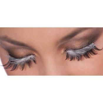 Eyelashes Black With Feather