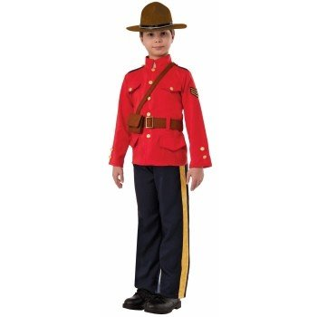 Children's Costume Mountie Large