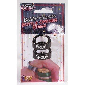 Bride & Groom Bottle Opener Ring Set