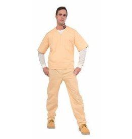 Adult Costume Beige Convict Suit