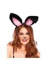 Black Plush Bunny Ears