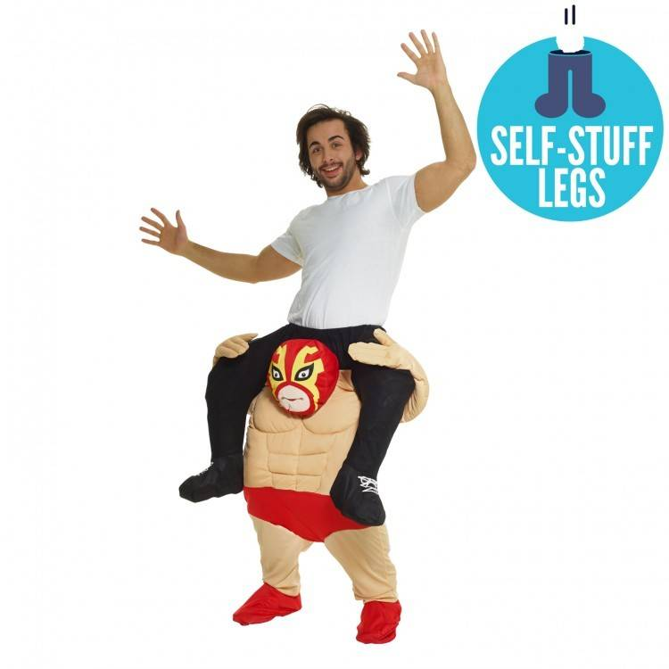 Adult Costume Morphsuit Piggy Back Wrestler