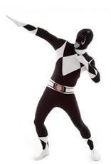 Adult Costume Morphsuit Black Power Ranger Large