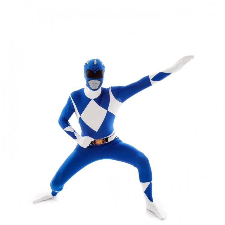 Adult Costume Morphsuit Blue Power Ranger Large