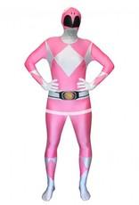 Adult Costume Morphsuit Pink Power Ranger Medium