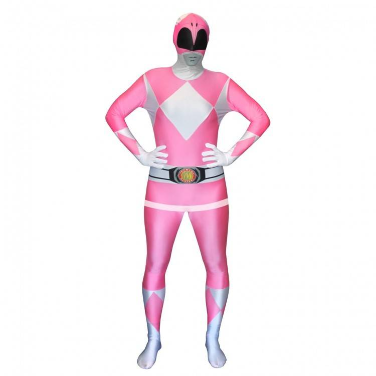 Adult Costume Morphsuit Pink Power Ranger XL