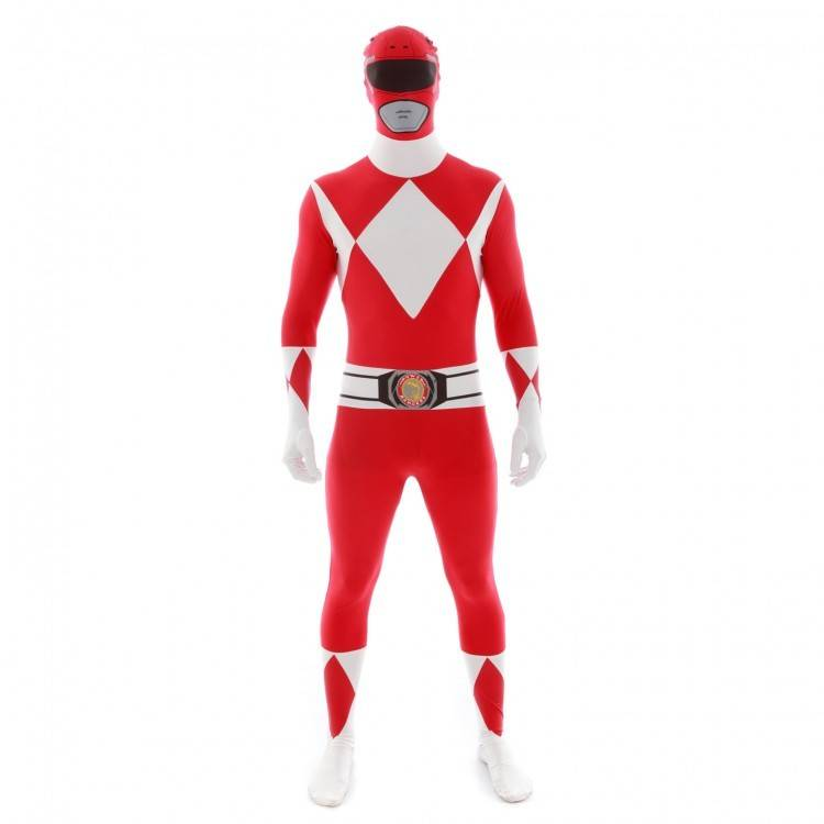 Adult Costume Morphsuit Red Power Ranger Medium