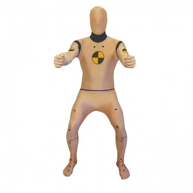 Adult Costume Morphsuit Crash Test Dummy XXL