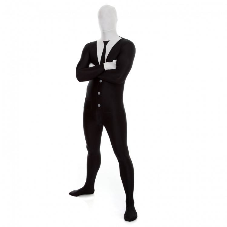 Adult Costume Morphsuit Slenderman XL
