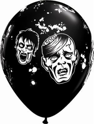 "11"" Zombie Balloon Uninflated"
