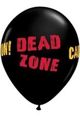 "11"" Printed Dead Zone Balloon 1 Dozen Flat"