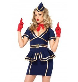 Women's Costume Friendly Skies Flight Attendant