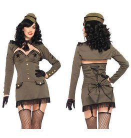 Women's Costume Pin Up Army Girl