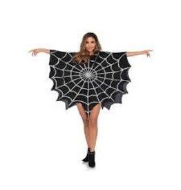Women's Costume Glitter Web Poncho