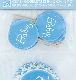 Baby Boy Stork Cupcake Kit (24)