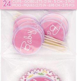 Baby Girl Stork Cupcake Kit (24)