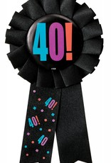 "Birthday Cheer Award Button ""40"""