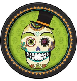 "Day of the Dead 9"" Plate (8)"