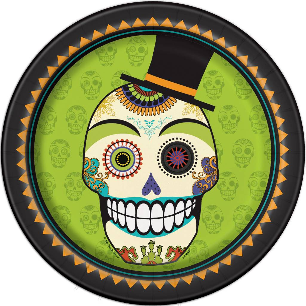 "Day of the Dead 9"" Plate"