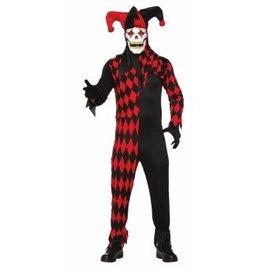 Men's Costume Evil Jester Standard Size