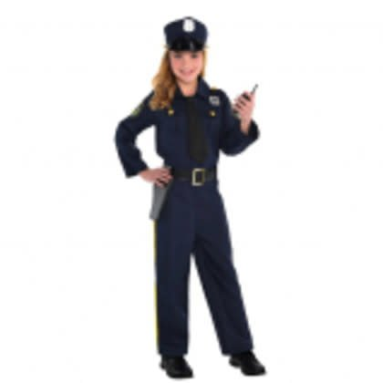 Children's Costume Police Officer Large