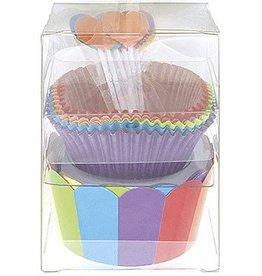 Rainbow Deluxe Cupcake Kit (24)