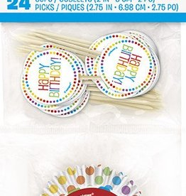 Rainbow Birthday Cupcake Kit (24)