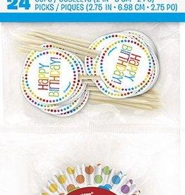 Rainbow Birthday Cupcake Kit 24pk