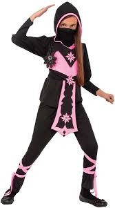 Children's Costume Pink Crystal Ninja