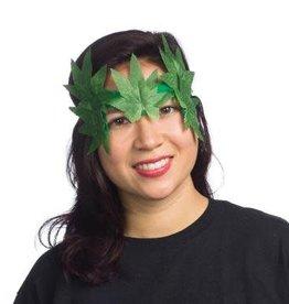 Woodland Fairy Leaf Eye Mask Green